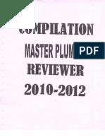 Master Plumbing Reviewer 2010-2012