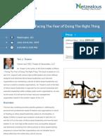 A Matter of Ethics
