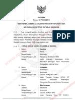 Putusan Sidang 2053 62 PUU 2013 UU BPK Dan UU KeuanganNegara
