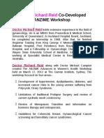 Doctor Richard Reid Co-Developed ANZIME Workshop