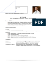 CV de François Dumontel