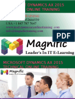 Microsoft Dynamics Ax Technical 2015 Online Training overview