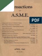 Draft Tube Surge ASME 1940