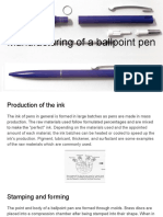 manufacturing of a ballpoint pen
