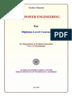 Teachers Manual Diploma Hydropower Engineering