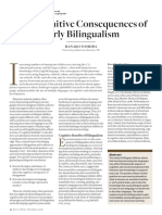 Cognitive Consequences of Being Bilingual