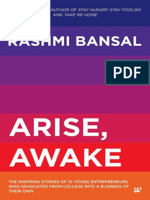 Arise, Awake the Inspiring Stories of Young Entreprenem College Into