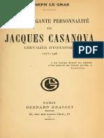 Joseph Le Gras L Extravagante Personnalite de Jacques Casanova