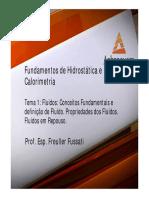 Fundamentos de Hidrostatica e Calorimetria Aula 01 Tema 01