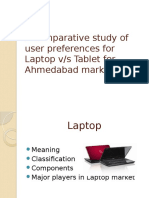 A Comparative Study of User Preferences for Laptop