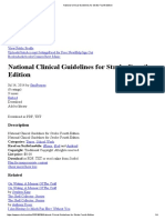 National Clinical Guidelines for Stroke 2012