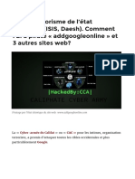 Cyber-terrorisme de l'état islamique (ISIS, Daesh). Comment l'EI a piraté « addgoogleonline » et 3 autres sites web?