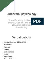 Abnormal Psychology Ch1