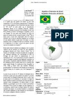 Brasil - Wikipedia, La Enciclopedia Libre
