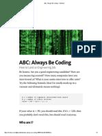 ABC_ Always Be Coding