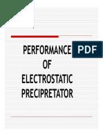 Performance of Electrostatic Precipretator