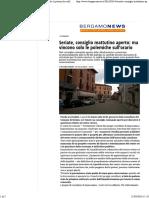 2016-03-15 BGNews-Seriate, Consiglio Mattutino Aperto_ Ma Vincono Solo Le Polemiche Sull'Orario