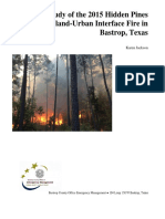 Hidden Pines Fire case study
