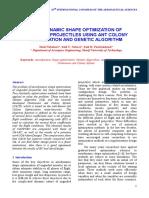 Aerodynamic Shape Optimization of Unguided Projectiles