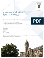University of Otago - International Tuition Fess and Costs 2016