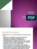 Presentasi Teori Akuntansi - Biaya