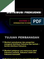 Materi 2 Distribusi Frekuensi