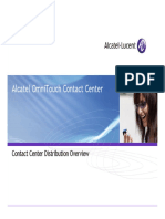 Contact Center Distribution Overview