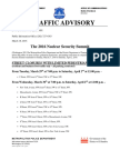 Traffic Advisory 2016 Nuclear Security Summit