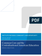 Common Core and the Centralization of American Education