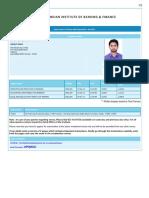 Iibf Admit Card 510135999