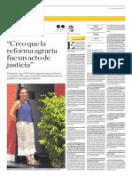 Entrevista a Marisa Glave en el diario El Comercio