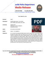 Retail Theft & Warrant Press Release Roger Gene Hulsey