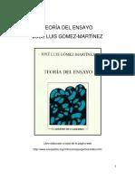 Teora Del Ensayo - Jorge Luis Gomez Martinez