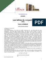 Rimbaud Lettres Du Voyant