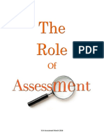 the role of assessment   sca