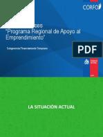 """Brochure Bases """"Programa Regional de Apoyo al Emprendimiento"""""""