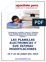 Temario - Planillas Electronicas y Sus Ultimas Modificaciones 24 y 25 de Junio