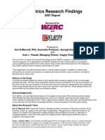 DC Metrics 2007 by Industry