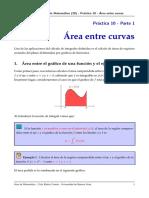 Area entre curvas - matematica