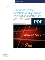 Insurance on the Threshold of Digitization