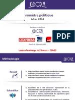 Barometre Politique Odoxa -L'Express-Presse Regionale-France Inter