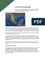 Plumbing the Ancient Mayan Plumbing