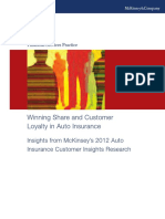 Winning Share and Customer Loyalty in Auto Insurance
