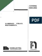 3626-00 Mantenimiento de Alumbrado Publico
