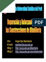 Reforzamiento y Reparacion de Las Construcciones de Albañinieria