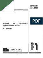 2606-95 Postes de secciones Tubulares de Acero