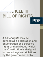 Bill of Rights of the Philippine Constitution