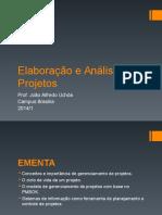Elaboracao e Analise de Projetos (Slides)