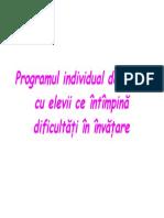Programul Individual de Lucru