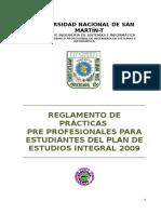 Reglamento de Practicas Pre Profesionales 2014 Ver5